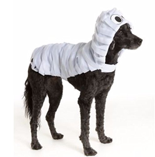 Pet Halloween White Mummy Monster Wrapped Pet Costume Large Dog Puppy -