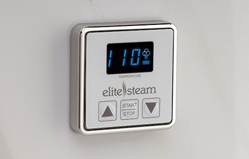 Elite Steam 10 KiloWatt Luxury Home Steam Shower System (Steam Shower Generator, Steam Shower Control, Steam Shower Head, and Cable) (Polished Nickel Inside Control)