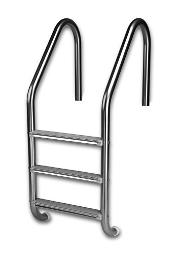 Inter-Fab L3E049S 3 Economy Sure-Step Tread Swimming Pool Ladder, Stainless Steel