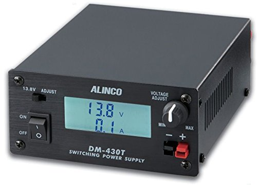 Alinco DM-430T Variable Voltage (5-15 VDC) 30A Switching Power Supply with Power Pole Connectors and Digital Meter. ()