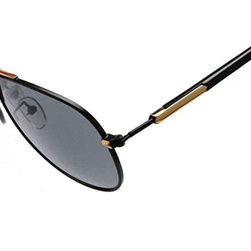 Gratis Color Metal A de la Polaroid Easy Conducción UV400 de Gafas Marca Tonos Envío Sol Shopping Brown Go de de Marco Sol Prueba Diseñador Gafas Hombres de Gray Luz Retras Gafas Zxwwfpq6