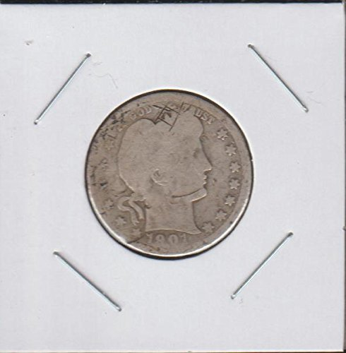 1901 O Barber or Liberty Head (1892-1916) Quarter Good