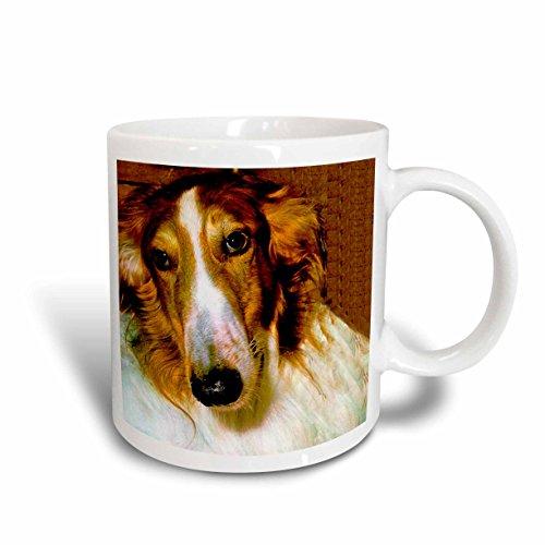 Borzoi Mug (3dRose Borzoi Ceramic Mug, 11-Ounce)