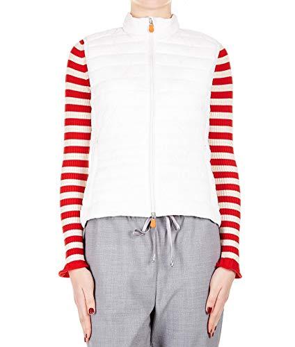Duck Blanc Polyester The D8431wgiga801301 Save Femme Gilet gSRTHw1n