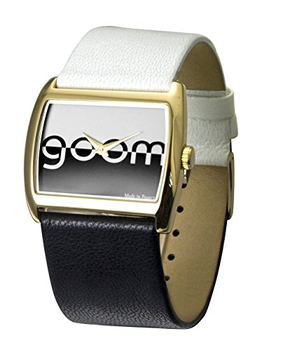 Moog Paris - Bi-couleur - Women's Watch with black and white dial, white and black strap in Genuine calf leather, made in France - M45592-002