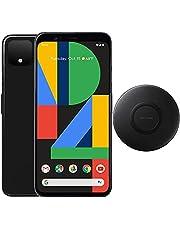 """$279 » Google Pixel 4 (64GB, 4GB) 5.7"""", IP68 Water Resistant, Snapdragon 855, GSM/CDMA Factory Unlocked (AT&T/T-Mobile/Verizon/Straight Talk) w/Fast Qi Wireless Pad (Just Black) (Renewed)"""