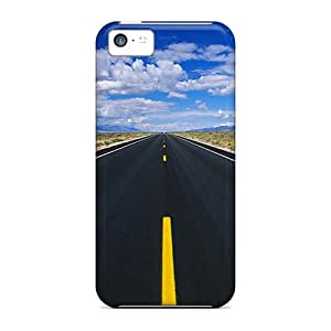 Flexible Tpu Back Cases Covers For Iphone 5c - Roads Pictures Road Black Friday