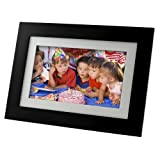 Pandigital Panimage 7 inch LED digital picture frame with real glass and wood framing