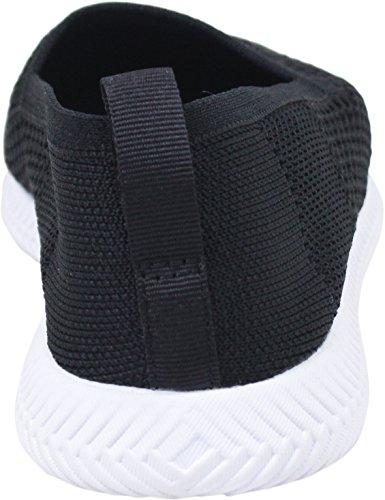 Personnes Chaussures Spannos Slip Ons Vraiment Noir / Yeti Blanc Mens 10