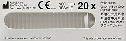 Thermometer Probe Ear Covers Disposable (Braun Thermoscan Ear Thermometer Lens Filters (20 Pack))