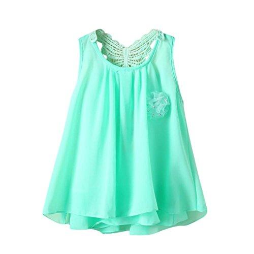 Tefamore Neugeborenen Kleinkind Baby Mädchen Solide Blume Schmetterling Backless Casual Dress Kleidung Grün