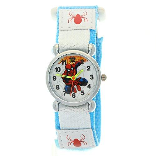 Marvel Comics Spiderman Cool Cartoon Kids children Stainless Steel Case Nylon Velcro Strap Watches