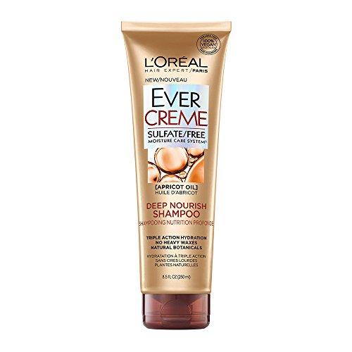 Loreal Hydrating Shampoo (L'Oréal Paris EverCreme Sulfate Free Deep Nourish Shampoo, 8.5 fl. oz.)
