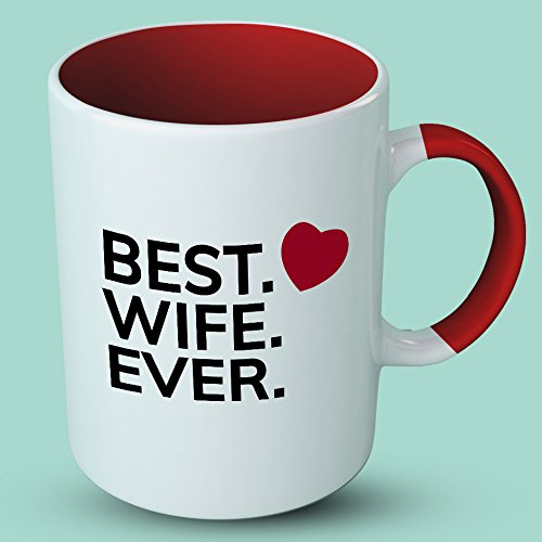 Valentines Gifts For Her - Best Wife Ever - Valentines Day Mug - Gifts For Wife - Ideal Anniversary gift under 20