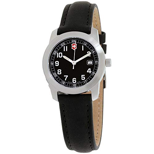 Victorinox Leather Wrist Watch - Victorinox Field Black Dial Leather Strap Ladies Watch 26011CB