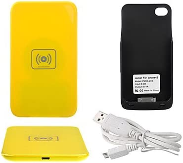 Qi Wireless Charger Yellow Charging Pad with Black: Amazon