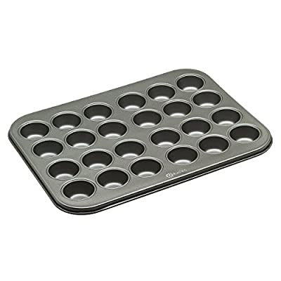 Ecolution Bakeins Cup Muffin and Cupcake Pan - PFOA, BPA, and PTFE Free Non-Stick Coating - Heavy Duty Carbon Steel - Dishwasher Safe - Gray