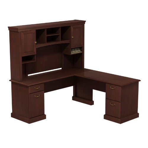 UPC 042976522735, Bush Business Furniture Syndicate 72W x 72D L-Desk with Hutch in Harvest Cherry