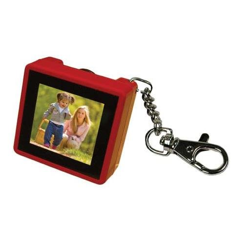 Digital Foci PAO-150 1.5-Inch Pocket Album OLED Keychain Digital Photo Viewer (Ruby Red) (Picture Keychain Viewer)