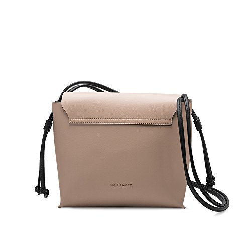 Stylish Bianco Shoulder Bags Melie Women Luxury Design Nude Leather Vegan Ring For Dillen qp56ngnwU