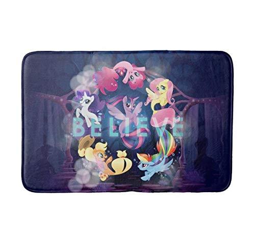 Bathlink Quick-Dry, Super Absorbent Anti-Slip Resistant Bathroom Mat Soft Bath Rug and Shower Carpet My Little Pony Mane Six Seaponies Believe Support Machine Wash. (30x18inch) (Pony Little Bathroom My Rugs)