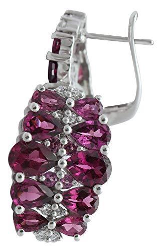Banithani 925 Sterling Silver Rhodolite Garnet Stone Stud Earring Jewelry