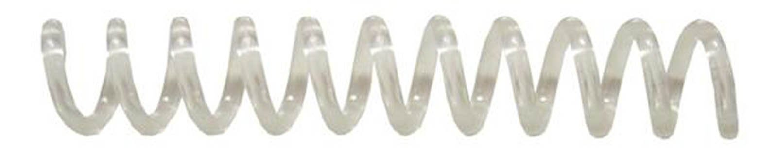 7mm (9/32) Clear Coil Bindings (Qty 100) Color: Clear, Model: , Office Shop