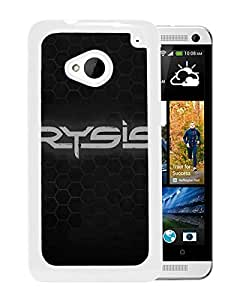 crysis 2 name game font background White High Quality Custom HTC ONE M7 Protective Phone Case