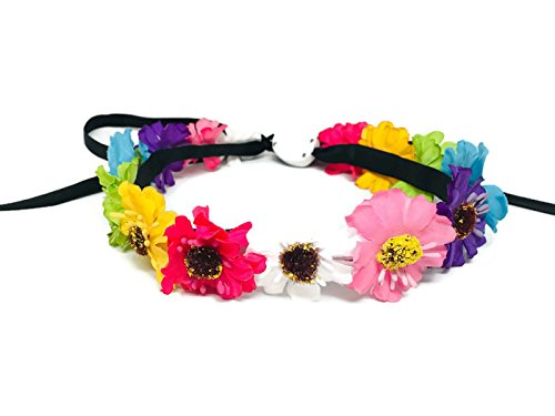 LED Flower Wreath Floral Headband Light Up Flashing Boho Wedding Accessory