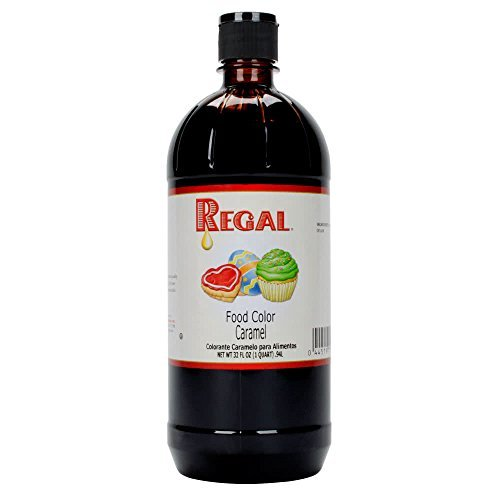 Regal Liquid Food Coloring, 32 Ounces Perfect for Cakes, Dough, Batter, Piping Gel, Fondant, and Unique Confections (Caramel Brown) ()