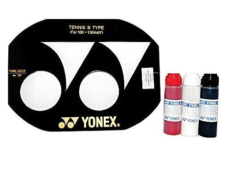 YONEX Tennisschläger Saite Schablone, (254–330,2cm) und YONEX Tinte (254–330