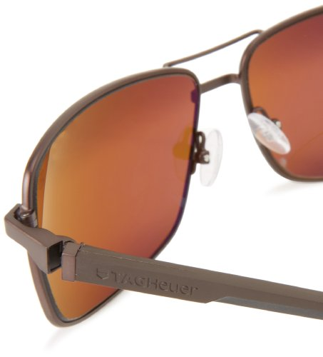Tag Heuer Automatic 883 203 Rectangular Sunglasses,Brown,62 mm