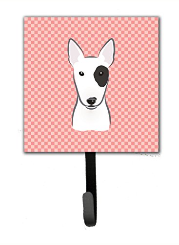 picture of Checkerboard Pink Bull Terrier Leash or Key Holder BB1209SH4