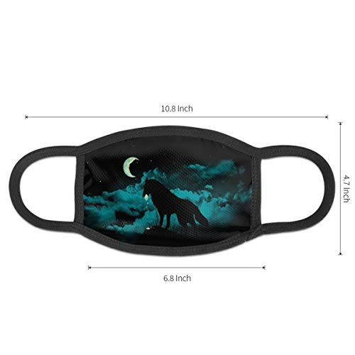 Snowy Wolf Forest Unisex Dust Mask Can Be Washed And Reused Suitable For Cycling And Running