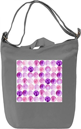 Purple Watercolor Bubbles Borsa Giornaliera Canvas Canvas Day Bag| 100% Premium Cotton Canvas| DTG Printing|