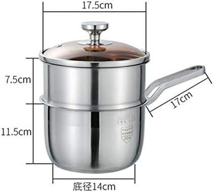Cuisine Cuisine Casserole à Vapeur Vapeur En Acier Inoxydable Multicouche Usage général épaissi à double couche pour cuisinière à gaz à induction-18cm