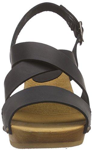 Sanita Sandalias Olympia Schwarz 2 Flex Negro negras mujer Sandal de moda de Square Uqq1EOn