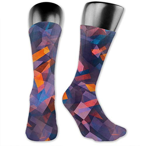 OLGCZM Prism with Six Faces Men Womens Thin High Ankle Casual Socks Fit Outdoor Hiking Trail