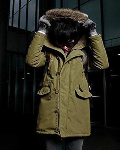 Manica Manica Transizione Cappotto In Con Con Moderna grün Giacca Lunga Esterna Sintetica Giacca Di Armee Addensante Giacca Esterna Pelliccia Cotone Con In Casual Uomo Giacca Da Caldo Cappuccio Cappotto Collo Giacca qTFHW
