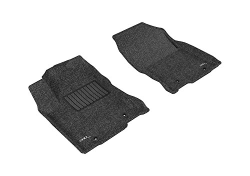 3D MAXpider Front Row Custom Fit Floor Mat for Select Lexus NX/ NX Hybrid Models - Classic Carpet (Black)