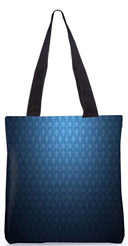 """Snoogg Hellblau Musterentwurf Tragetasche 13,5 X 15 In """"Einkaufstasche Dienstprogramm Trage Von Polyester Canvas"""