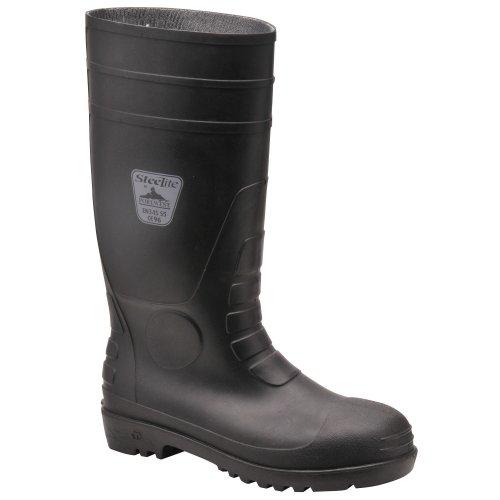 Portwest  Steelite Total Safety Wellington S5,  Unisex Erwachsene Gummistiefel , Schwarz - schwarz - Größe: 36 EU schwarz