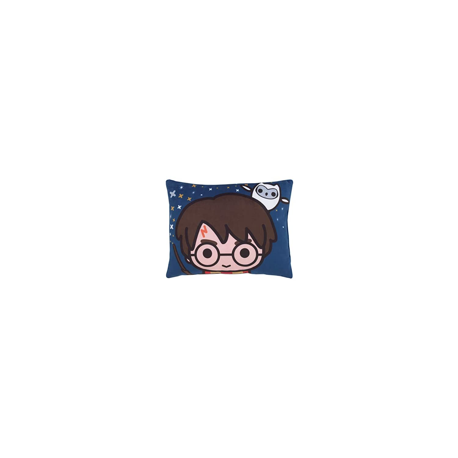 Harry Potter Wizards in Training Navy Decorative Toddler Pillow, Navy, Gold, White, Orange
