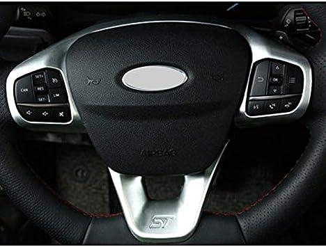 Splleader For Ford Fiesta Mk8 2017 2018 Zubehör Abs Carbon Faser Stlye St Auto Lenkrad Ordnungs Steuertastenfeld Abdeckung Styling Voiture Interieur Auto