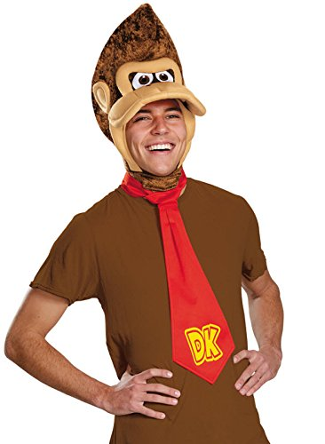 Disguise Men's Super Mario Donkey Kong Costume Kit, Brown, One Size (Super Mario Costume For Men)