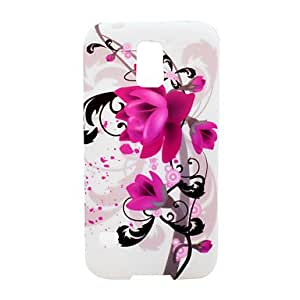 HP DFAmaryllis Flower Pattern Soft Case Cover for Samsung Galaxy S5 I9600
