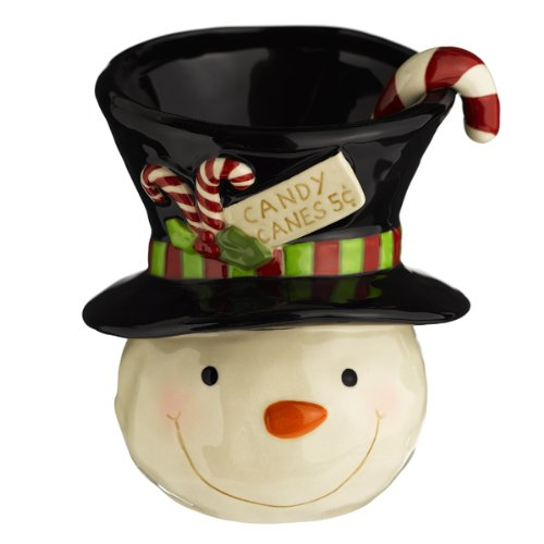 Grasslands Road Snocountry Snowman with Top Hat and 3-D Candy Cane