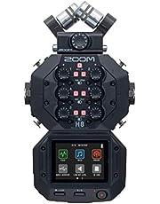 Zoom H8 Grabadora portátil de 12 pistas, micrófonos estéreo, 6 entradas, interfaz táctil, interfaz de audio USB, funciona con pilas, para audio estéreo/multipista para vídeo, podcast y música