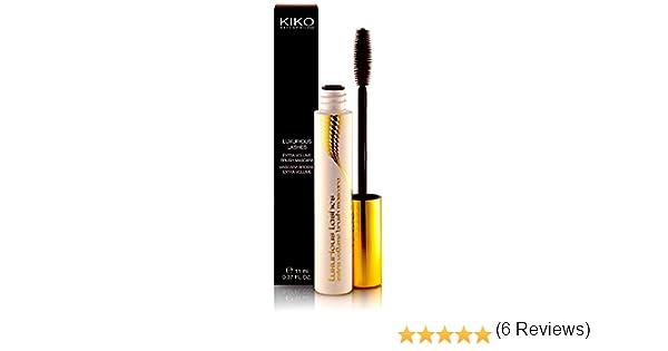 Kiko negro máscara de pestañas lujo cepillo de pestañas Volumen Extra: Amazon.es: Belleza