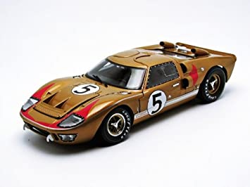 1966 ford gt 40 mk 2 gold 5 118 by shelby collectibles